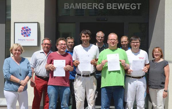 Wir gratulieren zur bestandenen Prüfung bei der Handwerkskammer für Oberfranken!